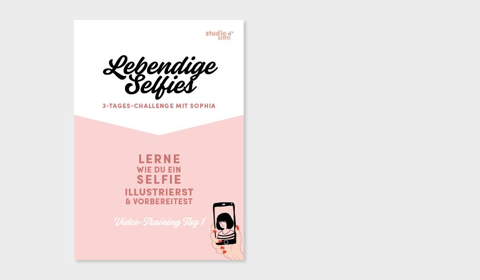 Worksheet zu Tag 1 - Hier findest du die verschiedenen Stilvorlagen für dein Selfie. Aus eigener Erfahrung: es ist einfacher nicht mit einem weißen Blatt Papier anzufangen. 😉 Eine kleine Checkliste für heute habe ich dir auch noch vorbereitet.