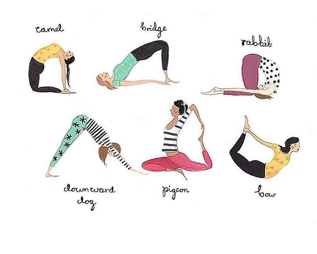 Do these poses for 3 minutes each to help relieve stress! #yogatips