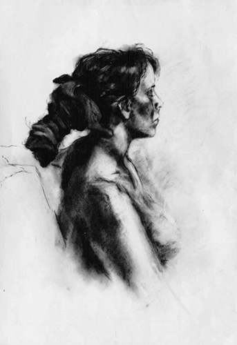 Tracy, Charcoal, 24 x 19''