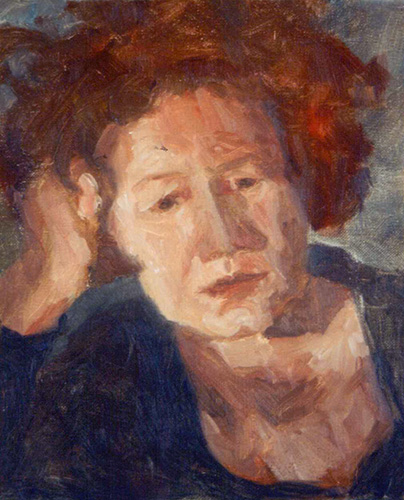 Sophie, Oil, 12 x 10''