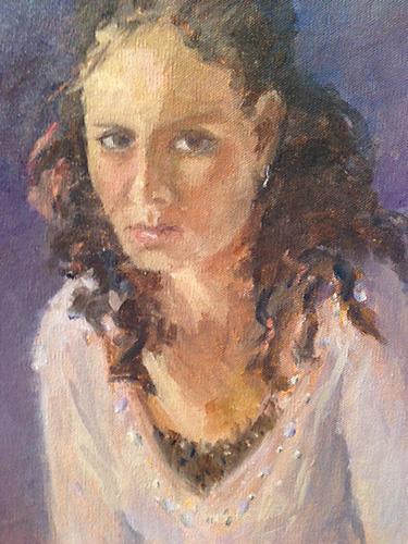 Marina, Oil, 13 x 9''