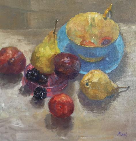 Autumn Fruits, Oil, 15 x15''