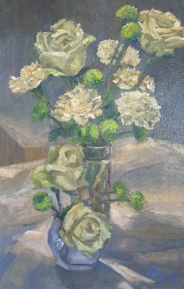 Composition In Cream, Oil, 22 x 16''