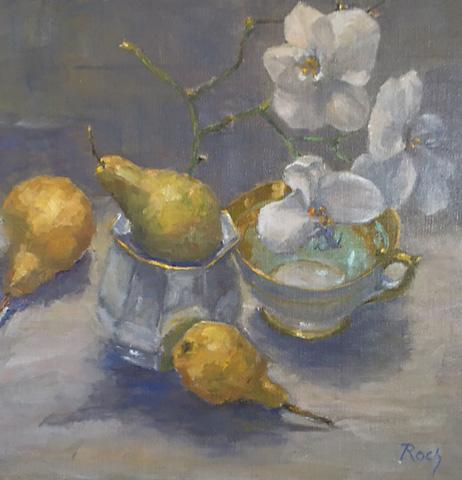 Golden Harmony, Oil, 15 x 15''
