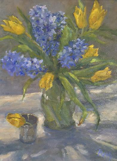 Hyacinths, Oil, 22 x 18''