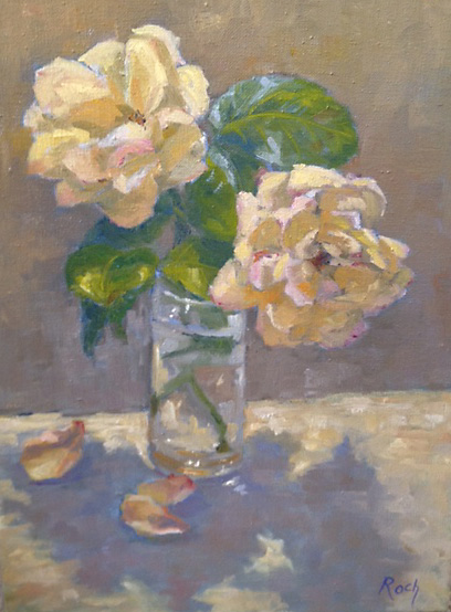Roses From The Garden, Oil, 23 x18''