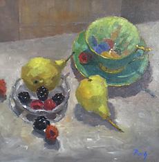Winter Fruits, Oil, 15 x 15''