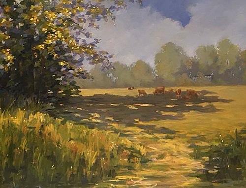 Summer Pastures, Oil, 44 x 54''