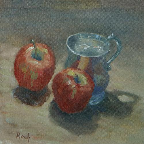The Christening Mug, Oil, 10 x 10''