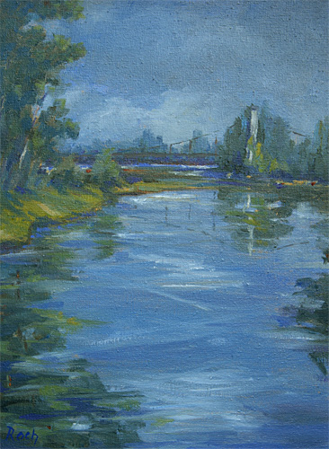Carrennac Bridge, Oil, 16 x 12''