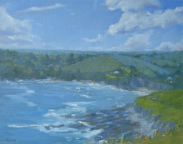 Cliff Path Above Talland Bay, Cornwall, Oil, 16 x 20''