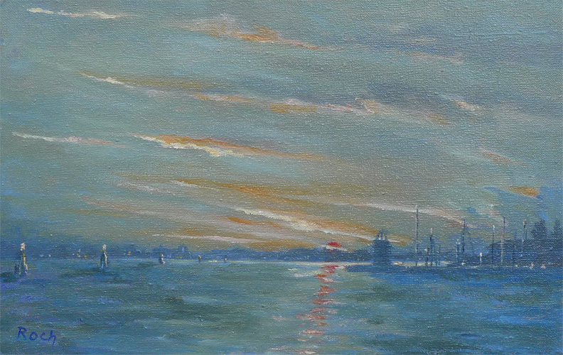 Cool Dawn by Baccino, Oil, 11 x 16''