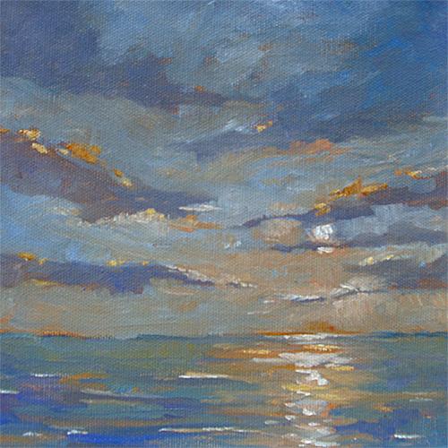 Silver Dawn, Oil , 8 x 8''