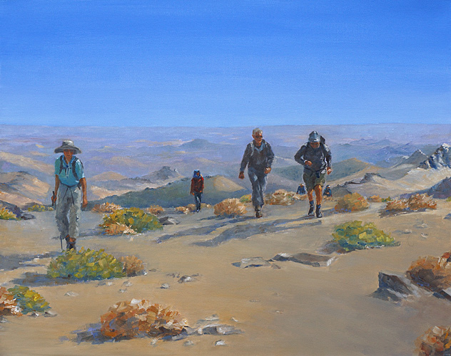 View of The Morning Ascent, Oil, 16 x 20''