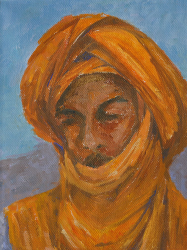 Saffron, Oil, 8 x 6''
