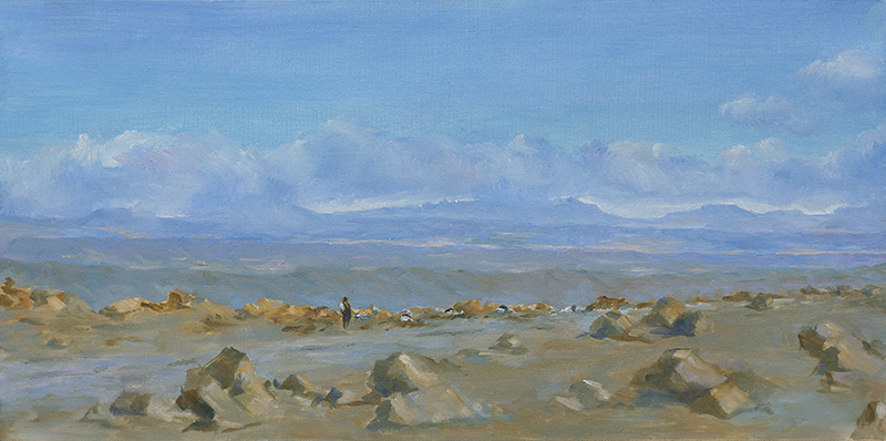 The Road To Marrakesh, Oil, 12 x 24''