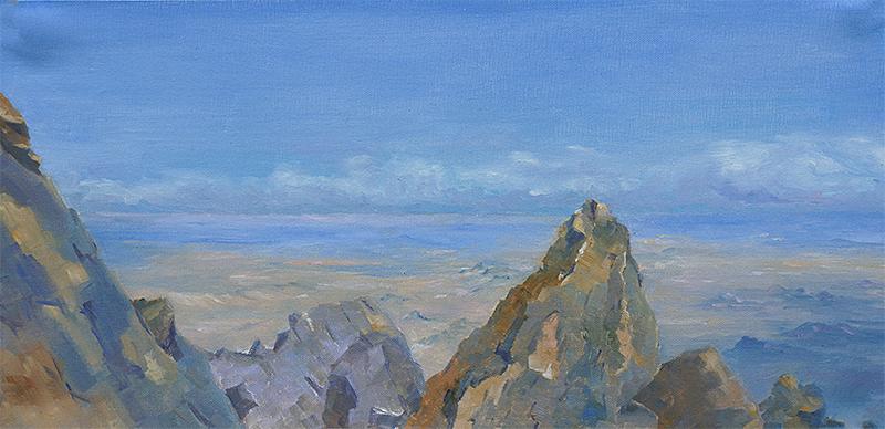 Jebel Siroua, Oil, 12 x 24''