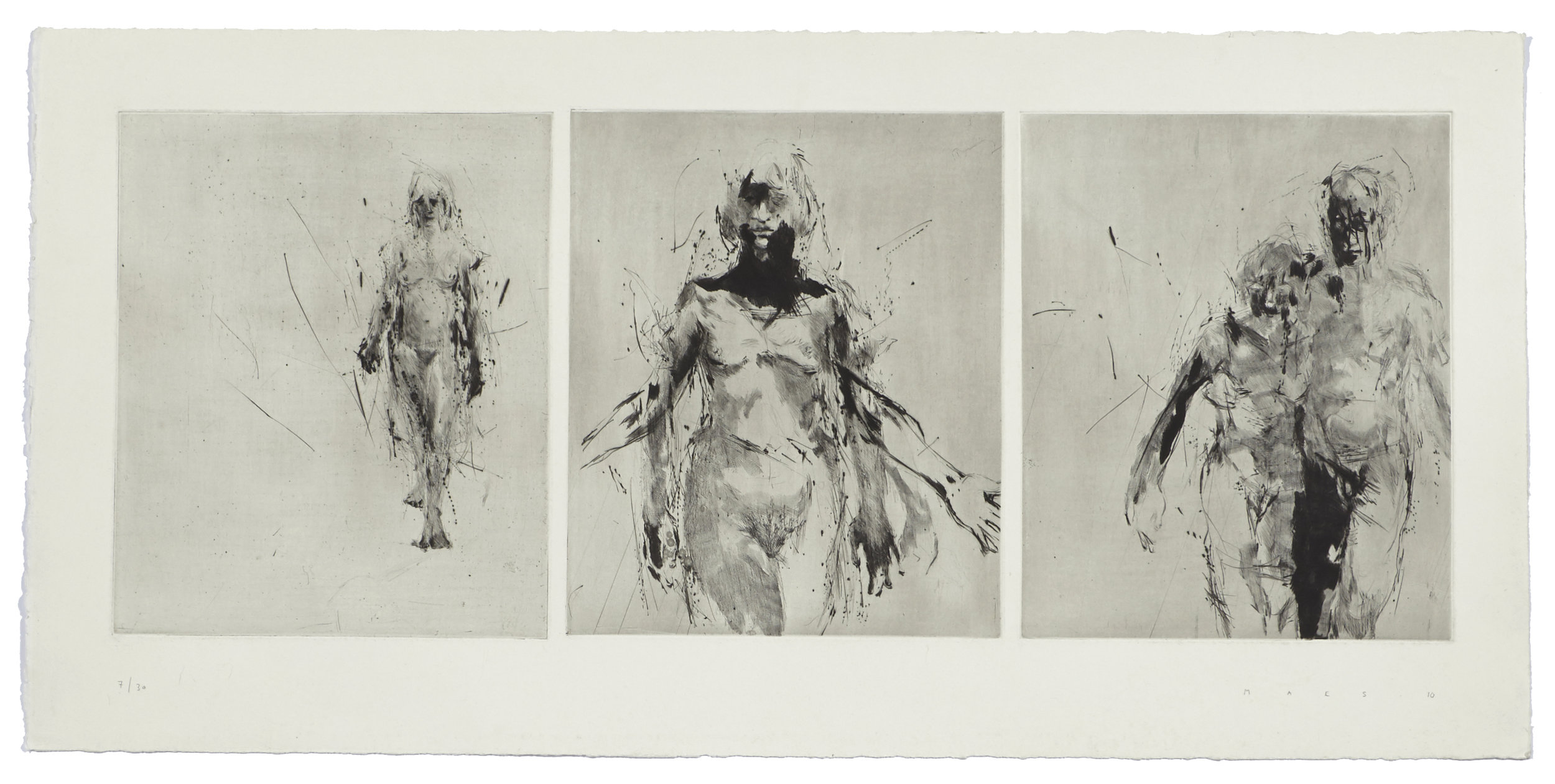 Song for A    2010 | 45 x 93 cm | Dry point | 30 prints