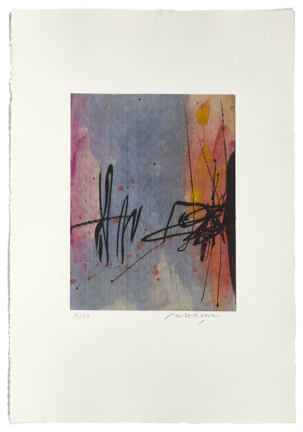 Untitled 2    2000 | 56 x 38 cm | Etching and painted chine | 17 prints | Éditor Atelier-Galerie A. Piroir