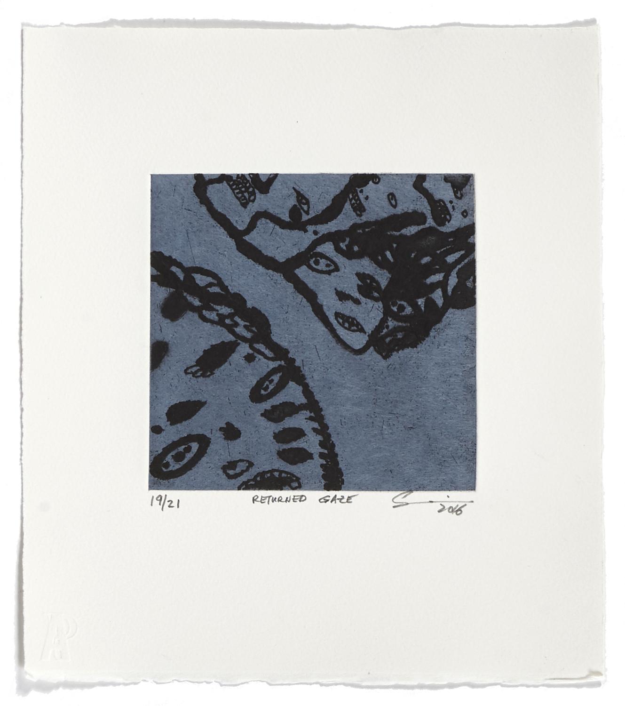 Returned Gaze    2016 | 32 x 26 cm | Eau-forte and chine collé | 21 prints | Editor Atelier-Galerie A. Piroir