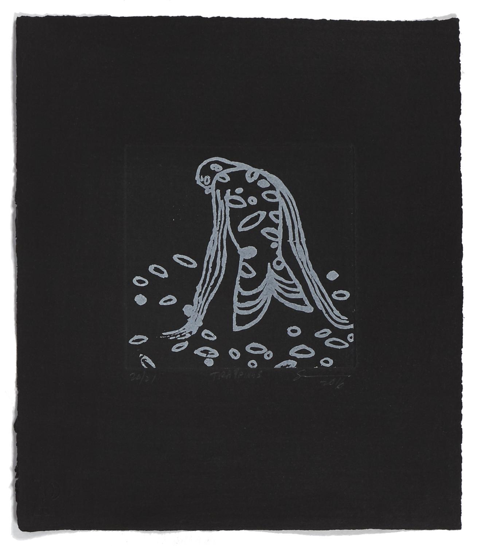 Trappings    2016 | 32 x 26 cm | Eau-forte and aquatint | 21 prints | Éditeur Atelier-Galerie A. Piroir