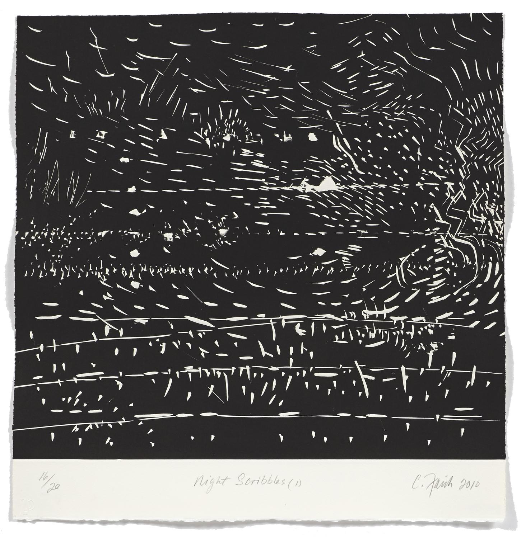 Night scribbles 1    2009 | 55 x 52cm | Roulage | 20 prints | Éditor Atelier-Galerie A. Piroir