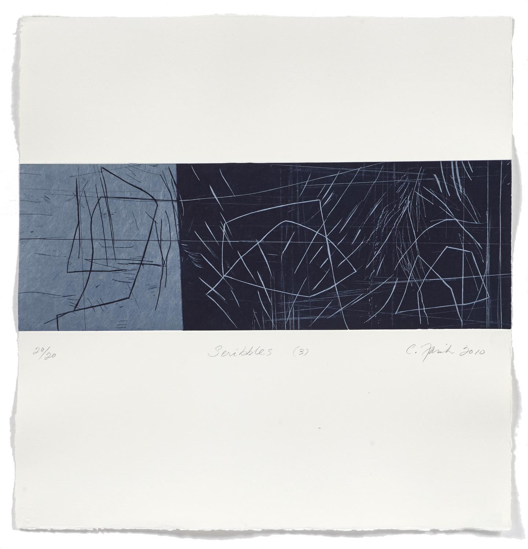 Scribbles 3    2009 | 55 x 52cm | Chine collé and roulage | 20 prints | Editor Atelier-Galerie A. Piroir and Galerie Simon Blais