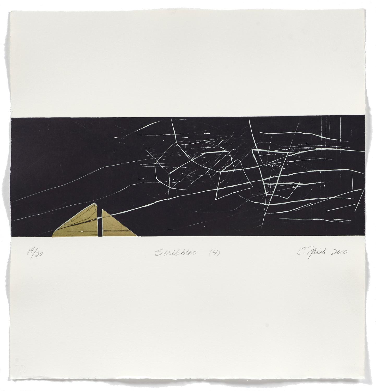 Scribbles 4    2009 | 55 x 52cm | Chine collé and roulage | 20 prints | Editor Atelier-Galerie A. Piroir and Galerie Simon Blais