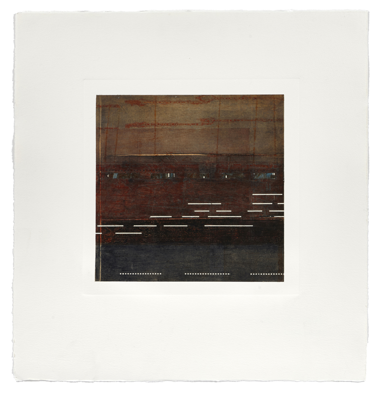 Notation / Night Landscape    2013 | 56 x 53 cm | Monotype