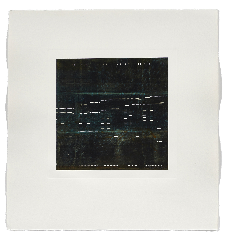 Notation / Underwater    2013 | 56 x 53 cm | Monotype