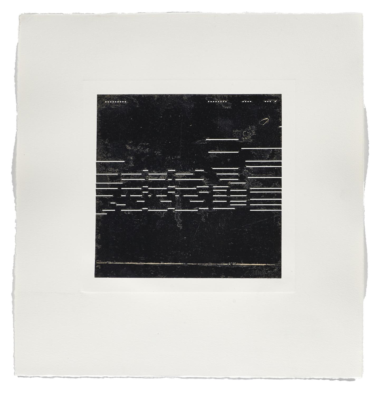 Notation / Balmy Night    2013 | 56 x 53 cm | Monotype