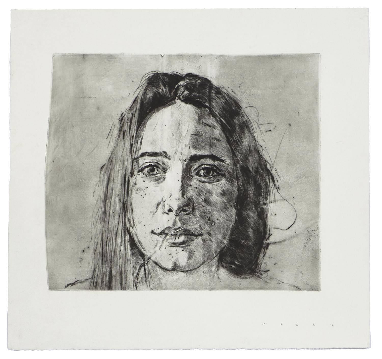 Evelina    2016 | 47 x 50 cm | Dry point