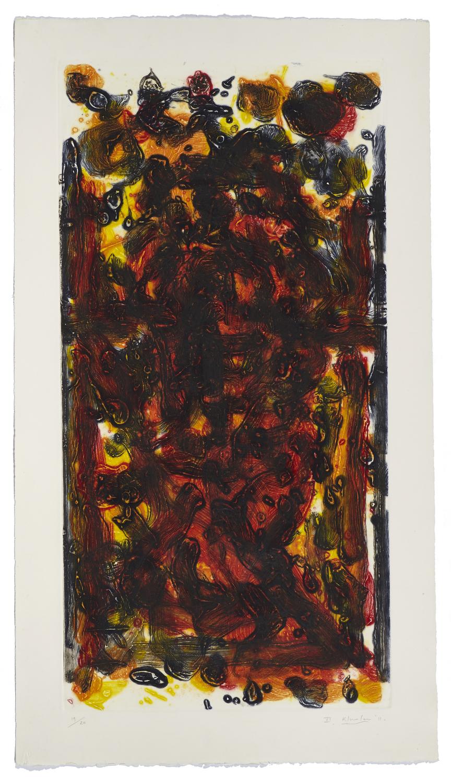 Montreal, self-portrait VI    2011 | 110 x 60cm | Collagraphie | 20 prints | Éditor Atelier-Galerie A. Piroir