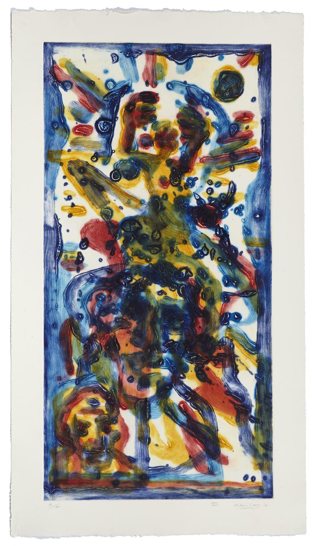 Montreal, self-portrait VIII    2011 | 110 x 60cm | Collagraphie | 20 prints | Éditor Atelier-Galerie A. Piroir