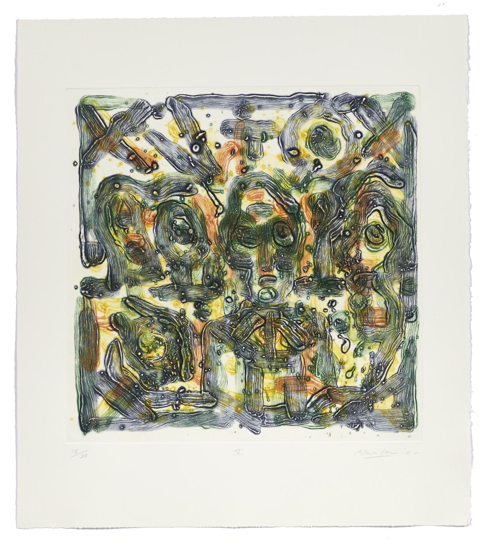 Montreal, self-portrait V    2011 | 65 x 63cm | Collagraphie | 20 prints | Éditor Atelier-Galerie A. Piroir
