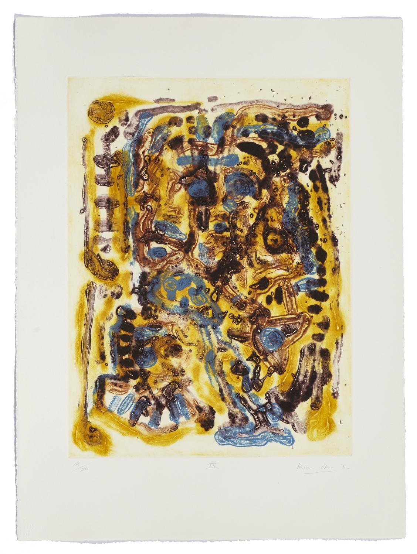 Montreal, self-portrait IV    2011 | 65 x 63cm | Collagraphie | 20 exemplaires | Éditeur Atelier-Galerie A. Piroir