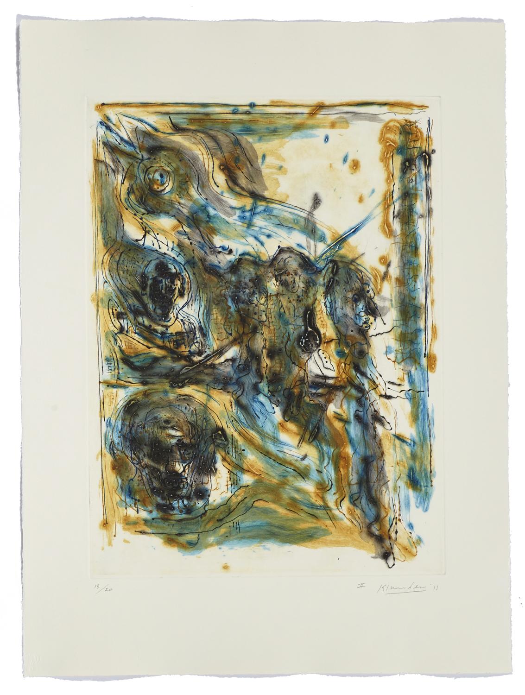 Montreal, self-portrait II    2011 | 65 x 63cm | Collagraphie | 20 exemplaires | Éditeur Atelier-Galerie A. Piroir