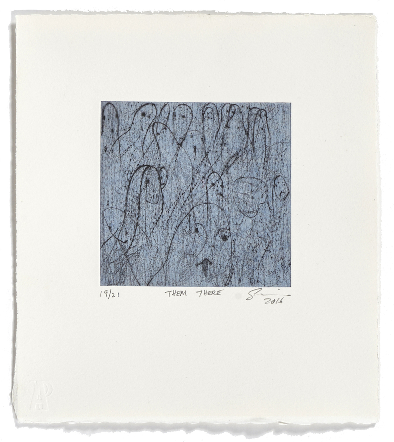 Them There    2016 | 32 x 26 cm | Drypoint and chine collé | 21 prints | Editor Atelier-Galerie A. Piroir