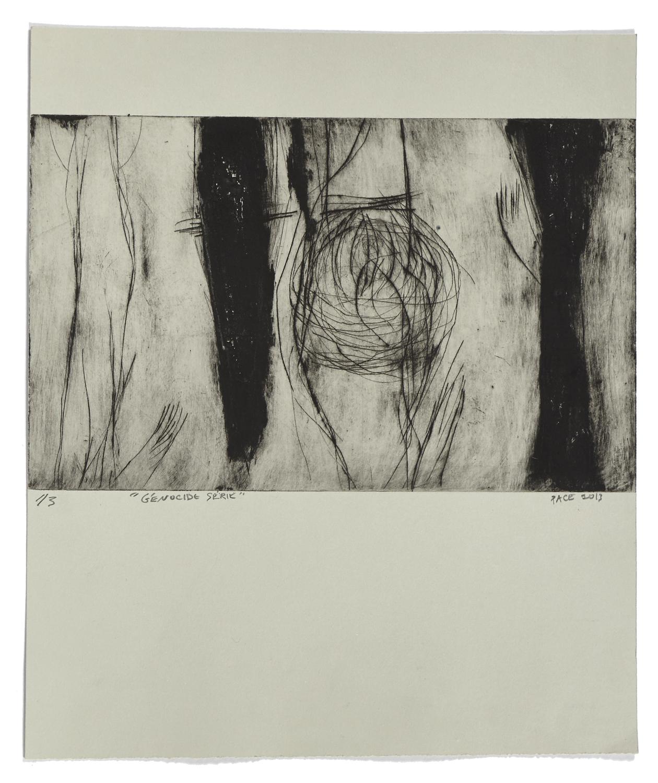 Génocide série    2013 | 45 x 38 cm | Carborundum and drypoint | 3 prints