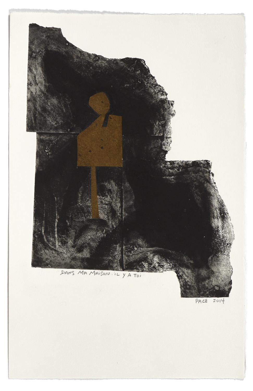 Dans ma maison - il y a toi    2014 | 45 x 29 cm | Monotype