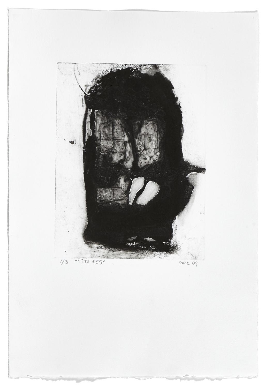 Tête #55    2009 | 56 x 38 cm | Collagraphie | 3 prints