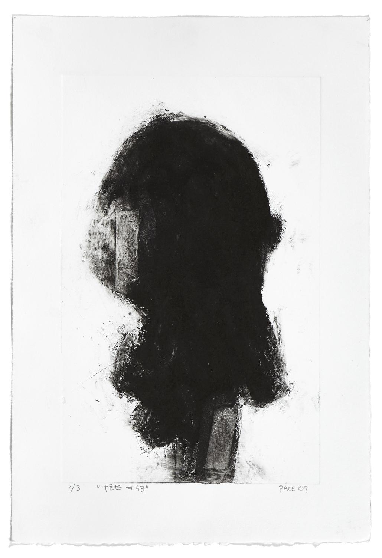 Tête #43    2009 | 56 x 38 cm | Collagraphie | 3 prints