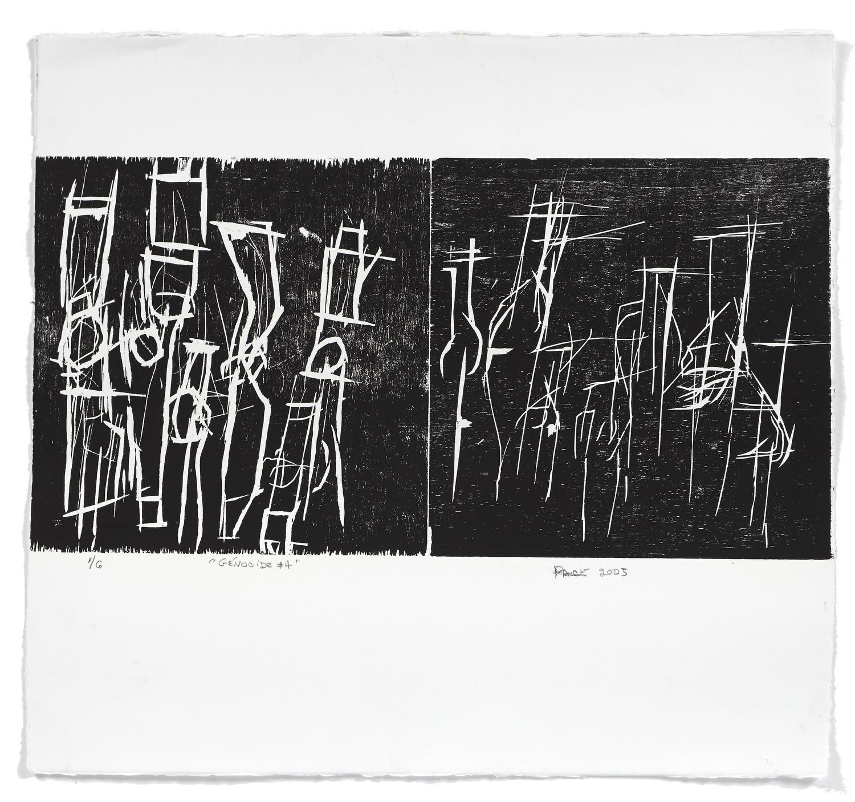 Génocide #4    2005 | 56 x 61 cm | Woodcut | 6 prints