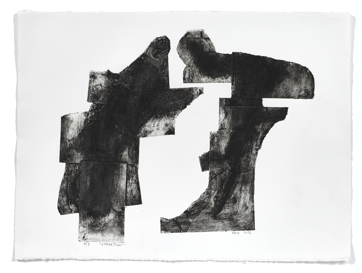 Opposition     2015 | 56 x 76 cm | Collagraphie | 3 exemplaires