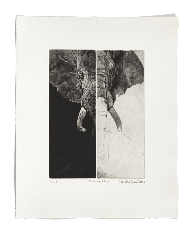 Noir et blanc   2007 | 44 x 35cm | Etching and drypoint | 30 prints | Editor Atelier-Galerie A. Piroir