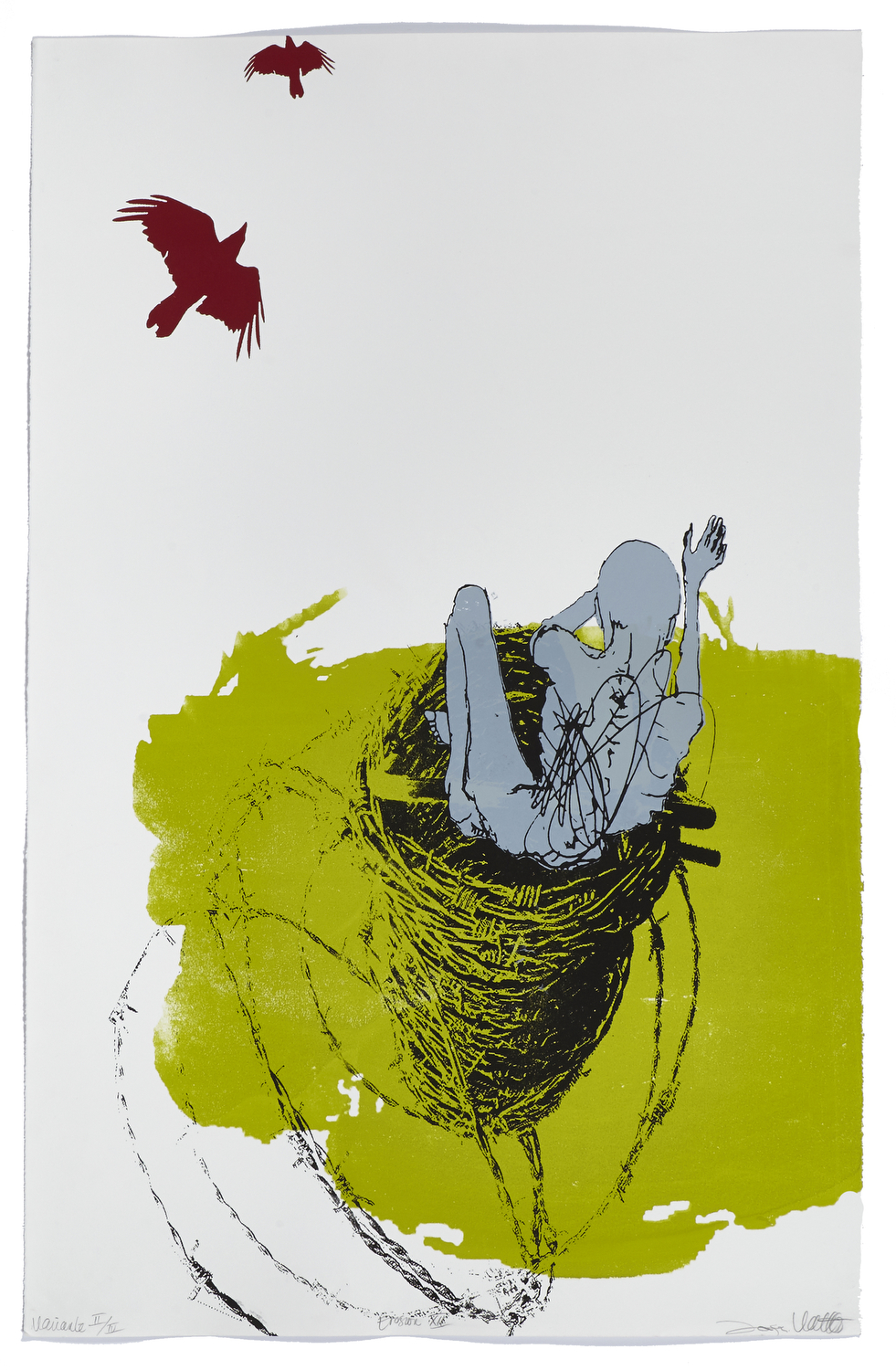 Érosion XII    2012 | 101 x 66 cm | Serigraphy | 4 exemplaires