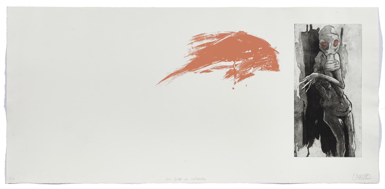 Les yeux en mortadelle    2009 | 53 x 113 cm | Serigraphy and eau-forte | 10 prints