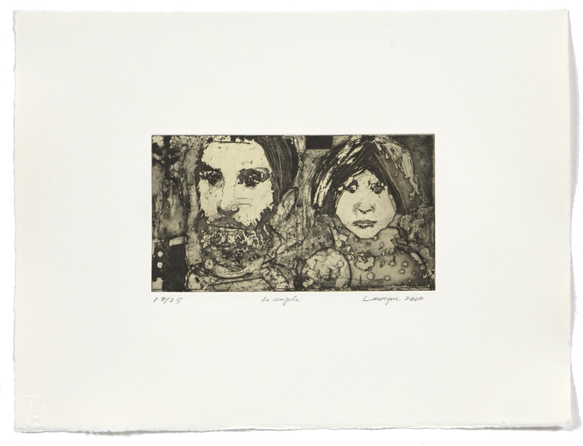 Couple   2010 | 28 x 38cm | Eau-forte and chine collé | 25 prints | Editor Atelier-Galerie A. Piroir
