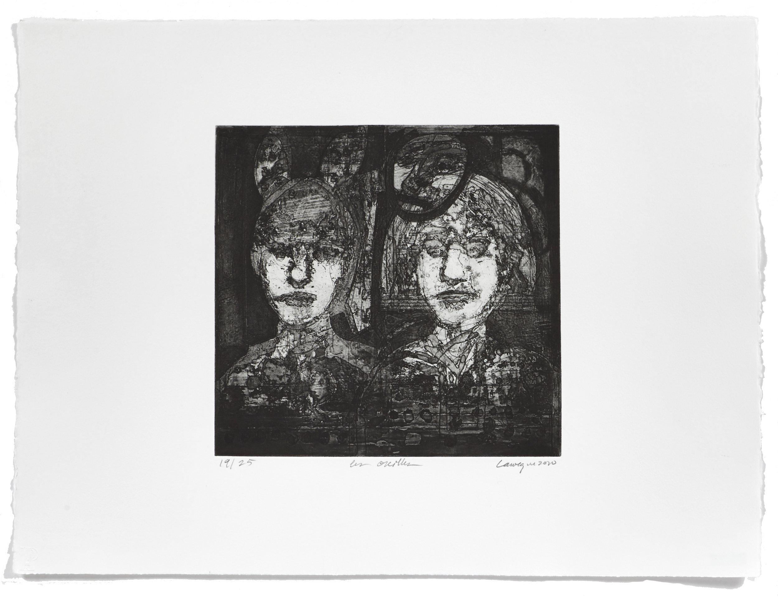 Les oreilles   2010 | 50 x 65cm | Eau-forte | 25 prints | Editor Atelier-Galerie A. Piroir