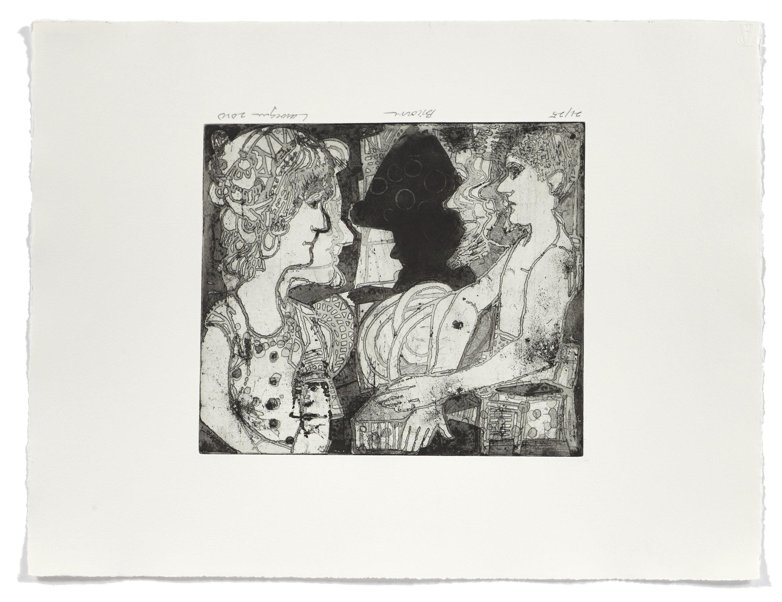 Bicorne   2010 | 50 x 65cm | Eau-forte and aquatint | 25 prints | Editor Atelier-Galerie A. Piroir